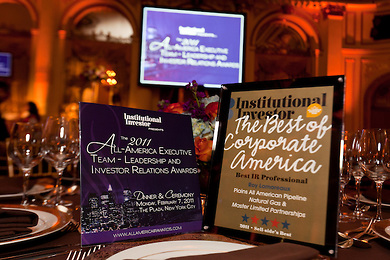 Institutional Investor awards by Jeffrey Holmes New York event photographer