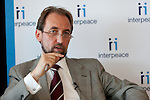 Interpeace launches the handbook: 'Constitution-making and reform: Options for the Process' a comprehensive resource for national constitution-makers and their advisors. His Royal Highness Prince Zeid Ra'ad Zeid Al-Hussein of Jordan, Permanent Representative of Jordan to the United Nations and Chair of the Peacebuilding Commission Country Configuration for Liberia. The book release took place at the United Nations on September 9, 2011 in New York. The event was photographed for Interpeace by Jeffrey Holmes, event photographer New York. (Jeffrey Holmes/JeffreyHolmes.com)