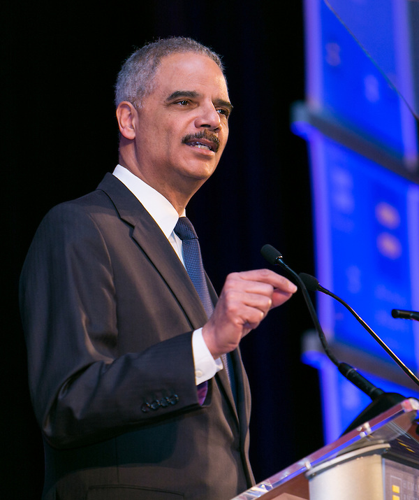 Attorney General Eric Holder, keynote speaker, at the HRC's Greater NY Gala 2014 held at the Waldorf=Astoria in New York City on Saturday, February 8, 2014. (Photo: JeffreyHolmes.com) (Jeffrey Holmes/JeffreyHolmes.com)