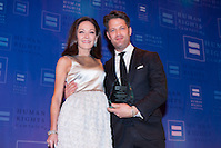 Margaret Russell, Architectural Digest Editor in Chief, and Nate Berkus. Ms. Russell was presented with the HRC Ally for Equality Award at the HRC's Greater NY Gala 2014 held at the Waldorf=Astoria in New York City on Saturday, February 8, 2014. (Photo: JeffreyHolmes.com) (Jeffrey Holmes/JeffreyHolmes.com)