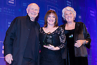 Terrence McNally, Patti LuPone and Tyne Daly. Patti LuPone was presented with the HRC Ally for Equality Award at the HRC's Greater NY Gala 2014 held at the Waldorf=Astoria in New York City on Saturday, February 8, 2014. (Photo: JeffreyHolmes.com) (Jeffrey Holmes/JeffreyHolmes.com)