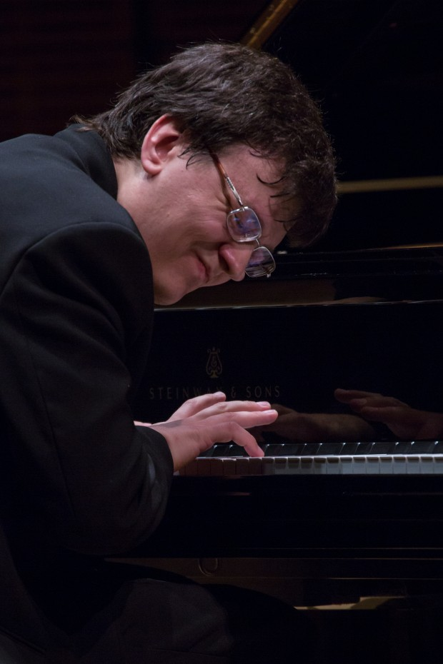 The World Piano Competion Alexander Yakovlev, 2012 WPC Gold Medalist,  at Carnegie Hall. (Photo: www.JeffreyHolmes.com)